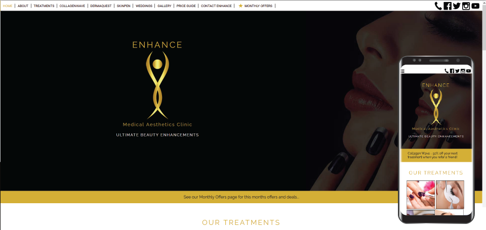 Enhance Medical Aethetics Clinic website
